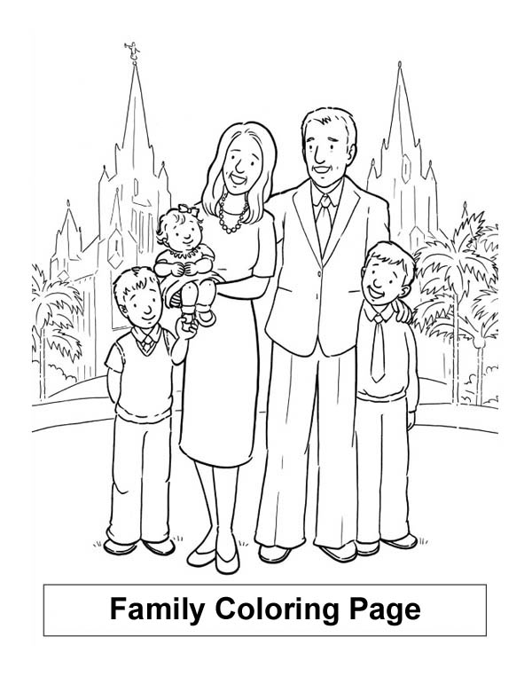 Colouring Picture Family Holiday In London With My Coloring Page