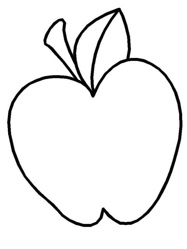 how to draw apple coloring page - Apple Coloring