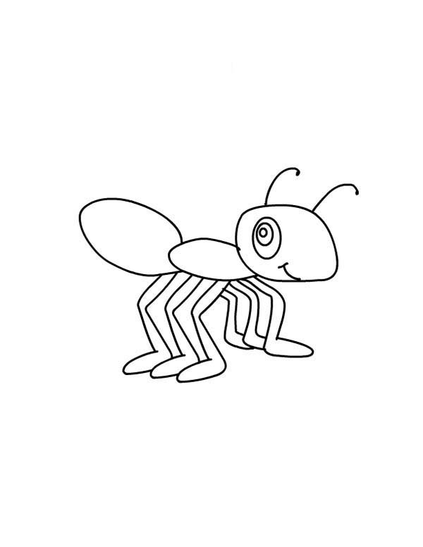 How To Draw Little Ant Coloring Page