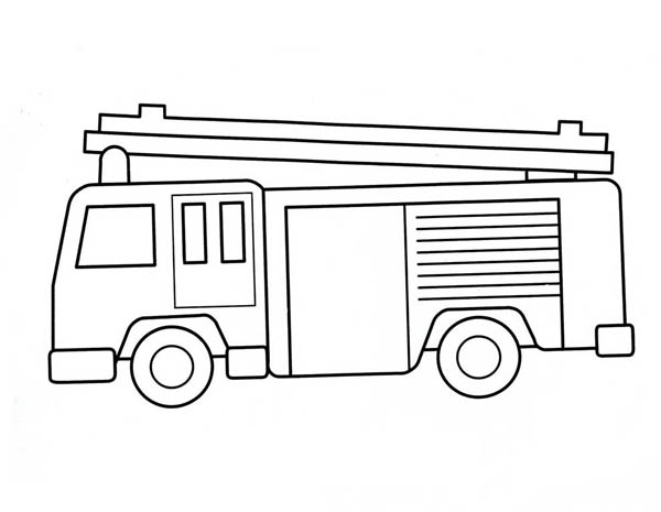 fire truck how to draw a fire truck coloring page