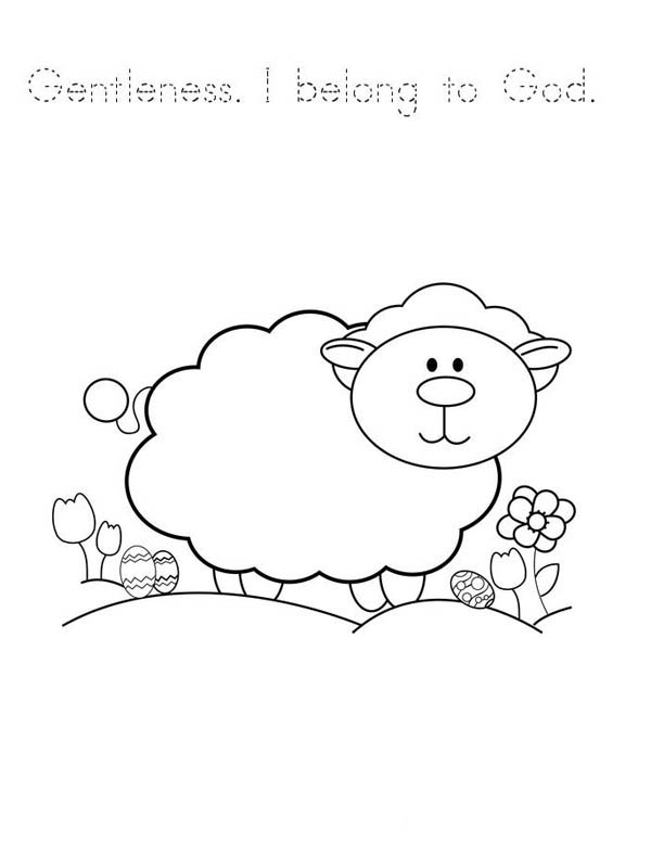 crippled lamb coloring pages - photo#10