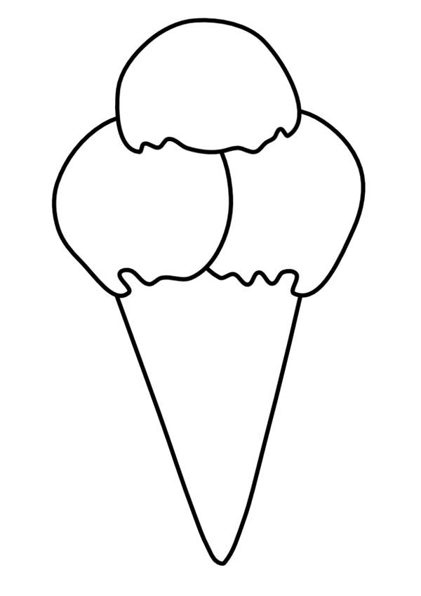 coloring pages ice cream cone - ice cream cone coloring page coloring sky