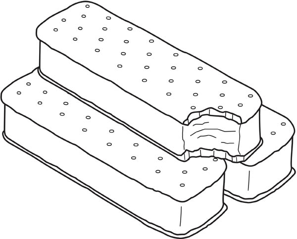 ice cream sandwich coloring pages -#main