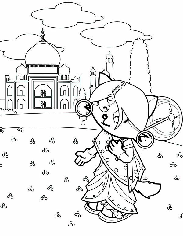 Indian Taj Mahal from Around the World Coloring Page | Coloring Sky