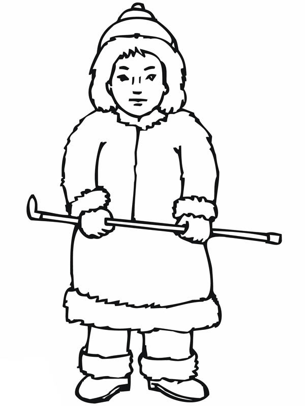 Inuit boy coloring page coloring sky for Eskimo coloring page