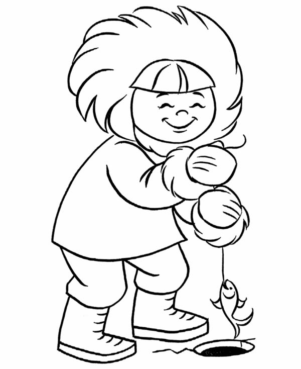 eskimo coloring pages - photo#30