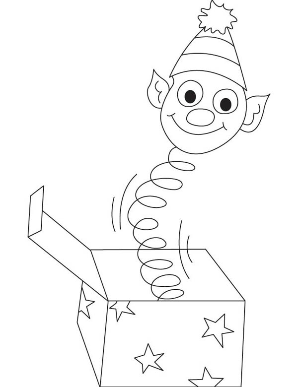jack in the box slinky head coloring page