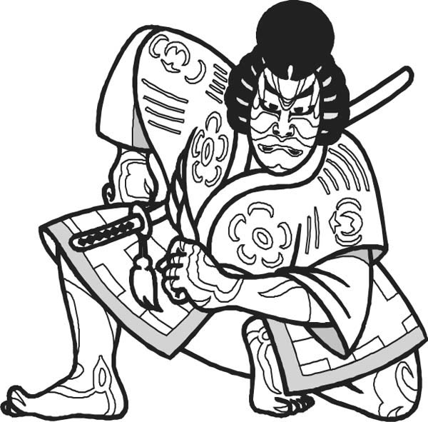japan knight coloring page
