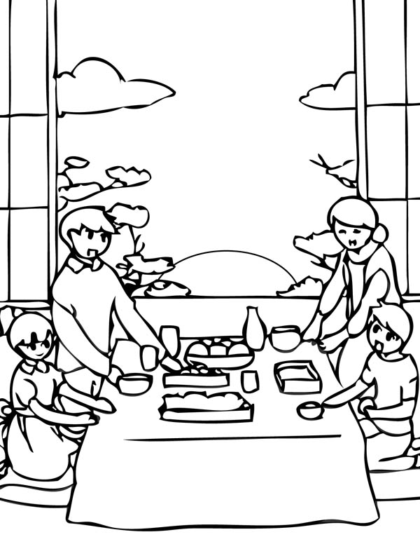 japan new year eve coloring page
