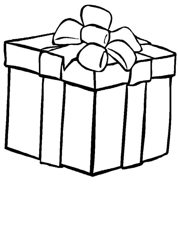 kids love big box of gifts coloring page