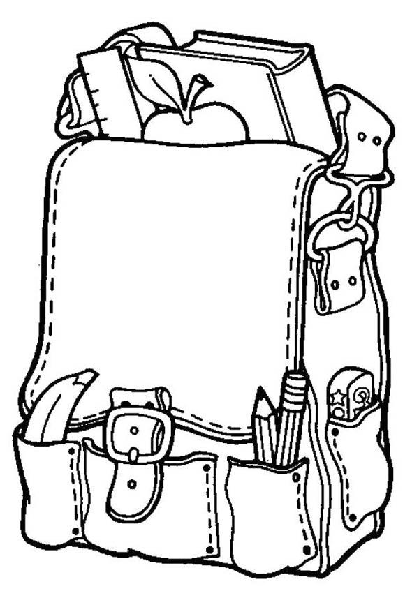 kindergarten kids bag coloring page kindergarten kids bag coloring