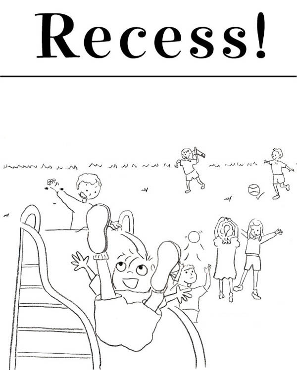 school is out coloring pages - recess schools out coloring pages cartoon coloring pages