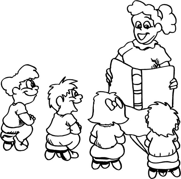 First Day Of Kindergarten Coloring Pages