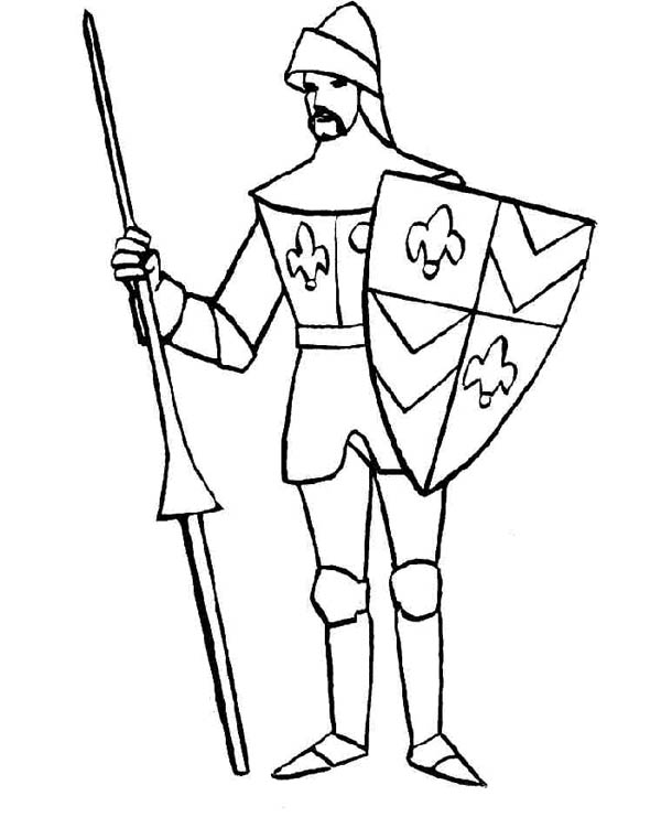 knights armor coloring pages - photo#15