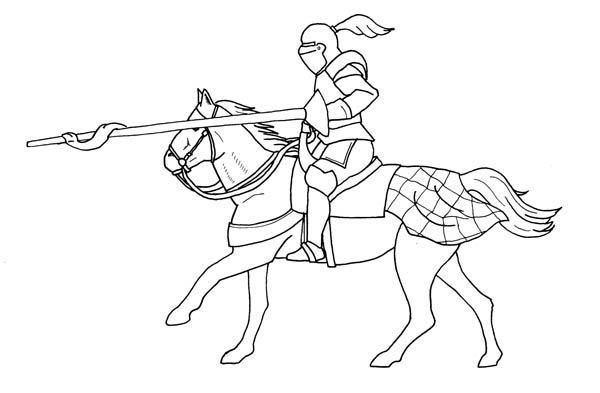 knight and horse coloring pages - photo#7