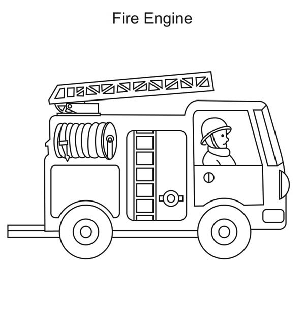 fire truck coloring pages firefighter - photo#11