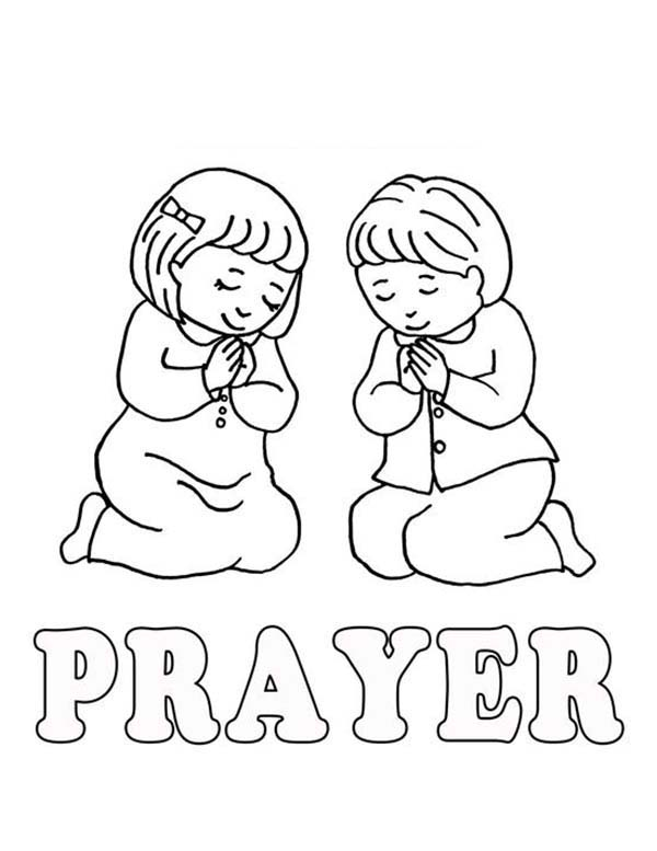Praying Children Coloring Pages For Sunday School