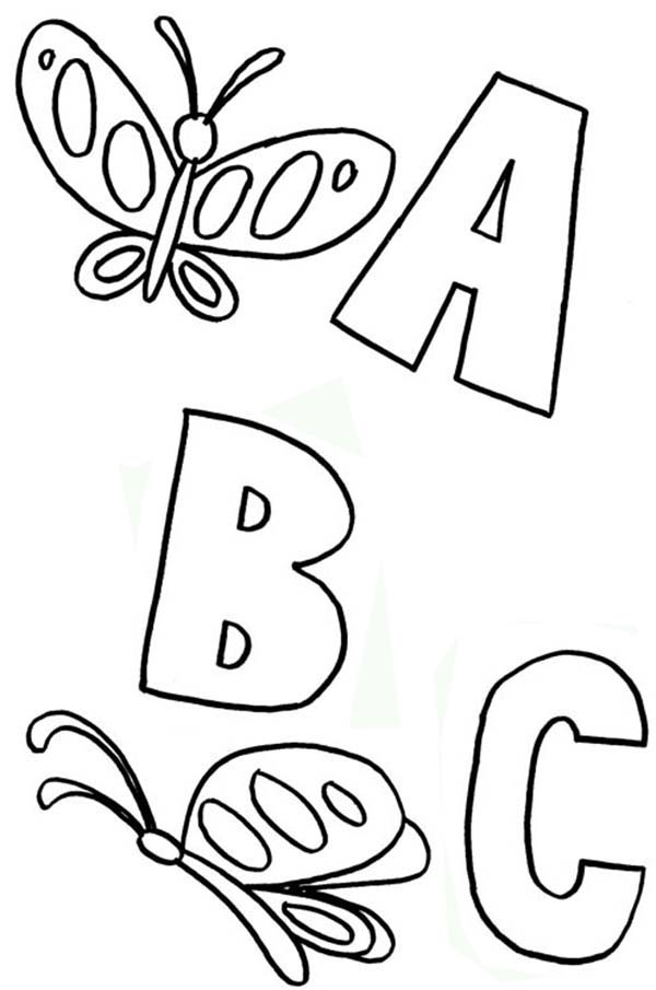 Learning ABC with Animals Coloring Page | Coloring Sky
