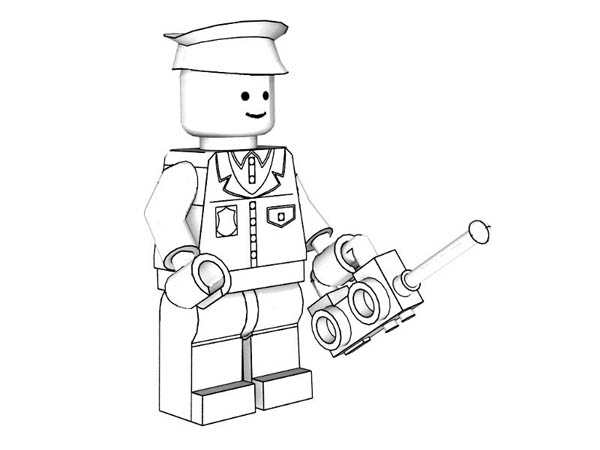 Lego Policeman Models Coloring