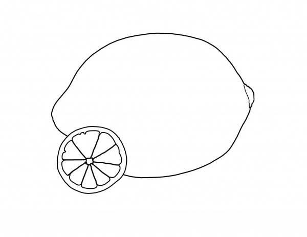 lemon coloring pages for kids - photo#30