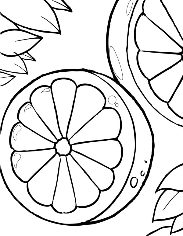 Lemon free colouring pages for Lemon coloring page