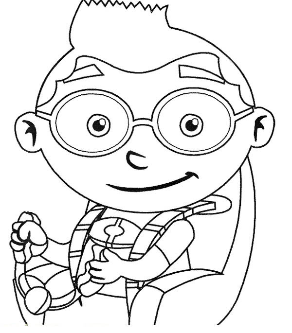 Leo from little einstein coloring page coloring sky for Leo coloring pages