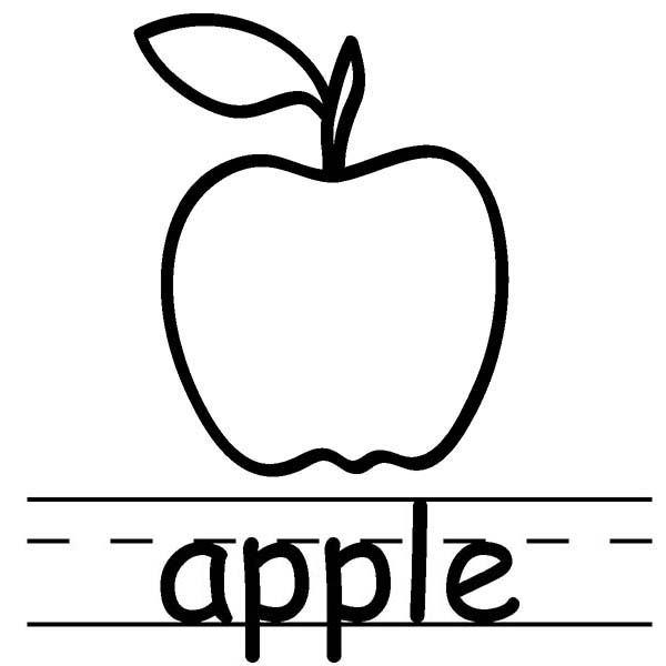 letter a for apple coloring pages - letter a is for apple coloring page coloring sky