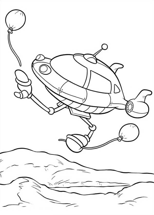 Little Einstein Lose A Ballon Coloring Page Coloring Sky