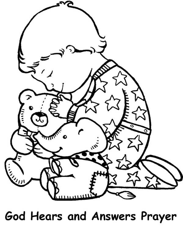 Lords Prayer And Have Faith Coloring Page