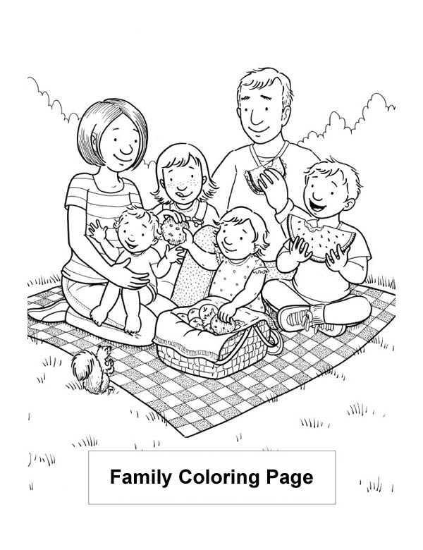 Family Coloring Pages Esl