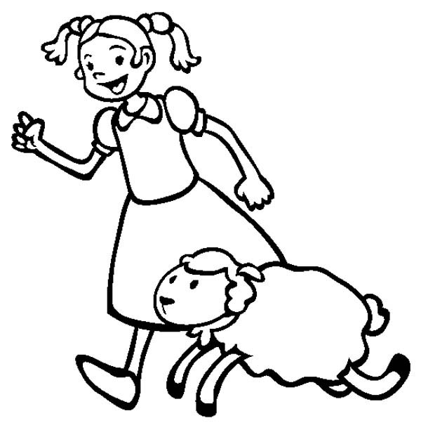 Charming Lamb Coloring Sheet Images