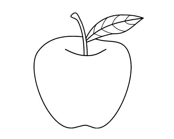 Nice Apple For Pie Coloring Page