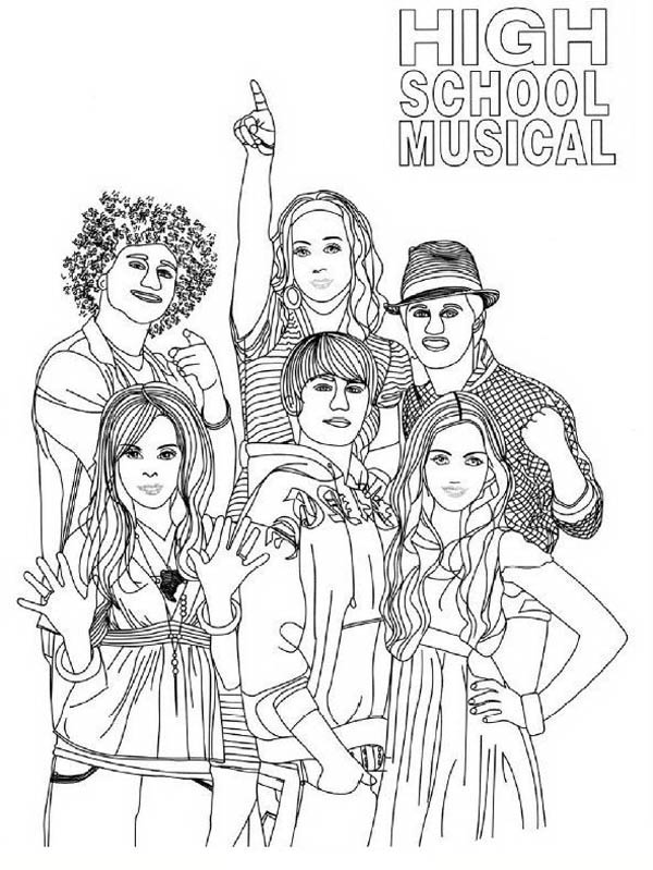 high scholl musical coloring pages - photo#9
