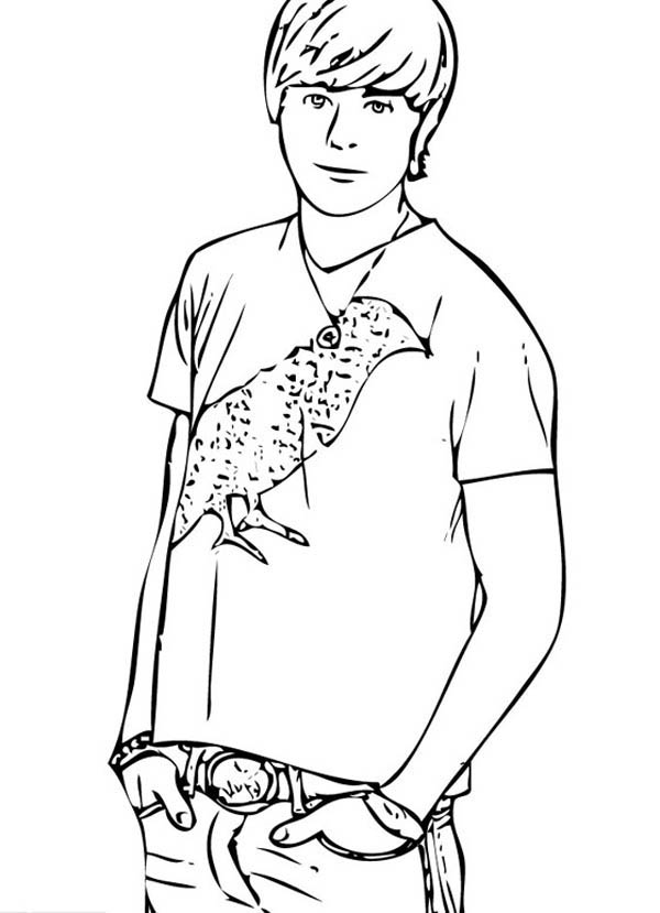 Popular Male Student in High School Musical Coloring Page ...