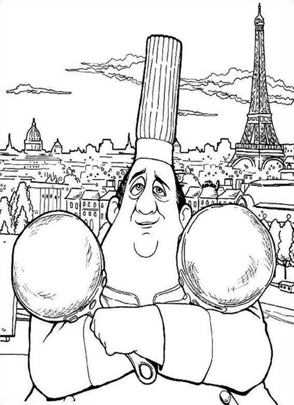 Ratatouille Great French Chef Coloring Page | Coloring Sky