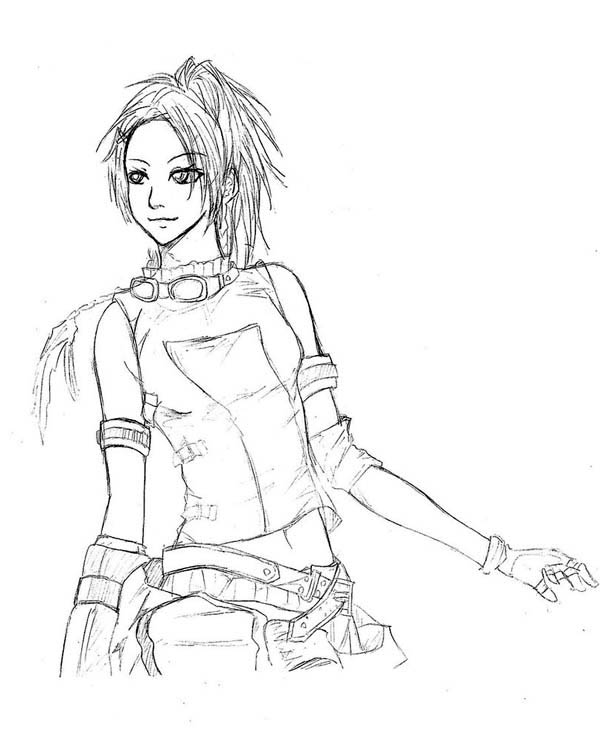 final fantasy character coloring pages - photo#12