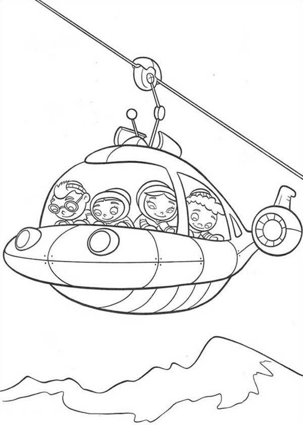 Cable Car Coloring Pages : Rocket become a cable car in little einstein coloring page