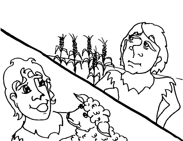 abel cain story of abel and cain coloring page for kids