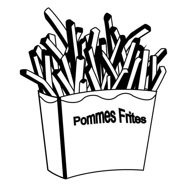french fries coloring pages - photo#24