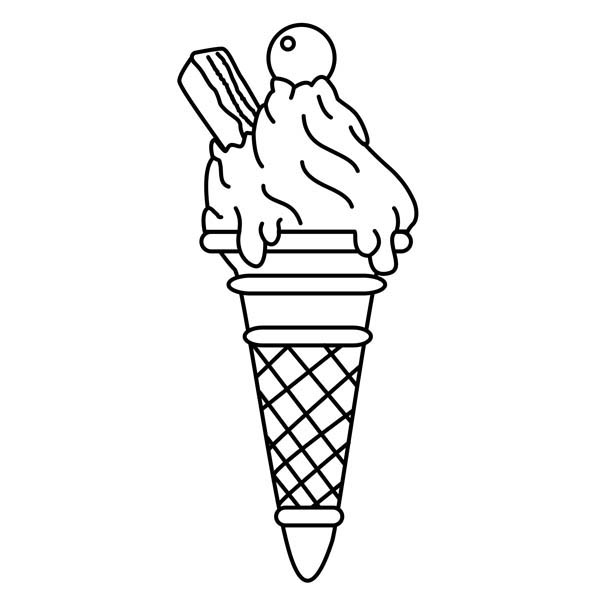 Tasty Ice Cream Coloring Page | Coloring Sky