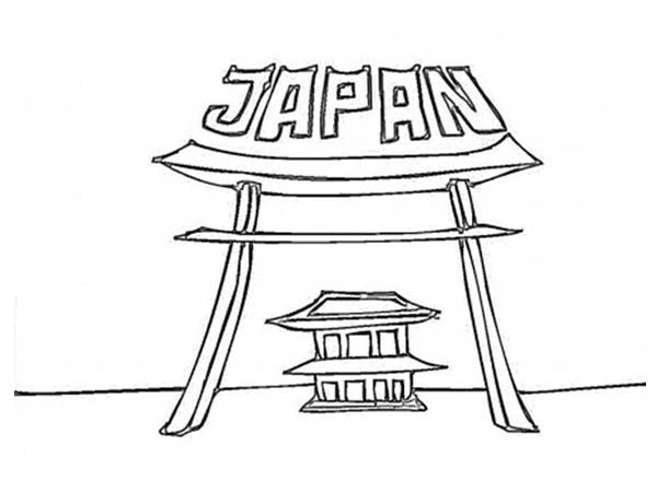 Temple of japan coloring page coloring sky Coloring book japan