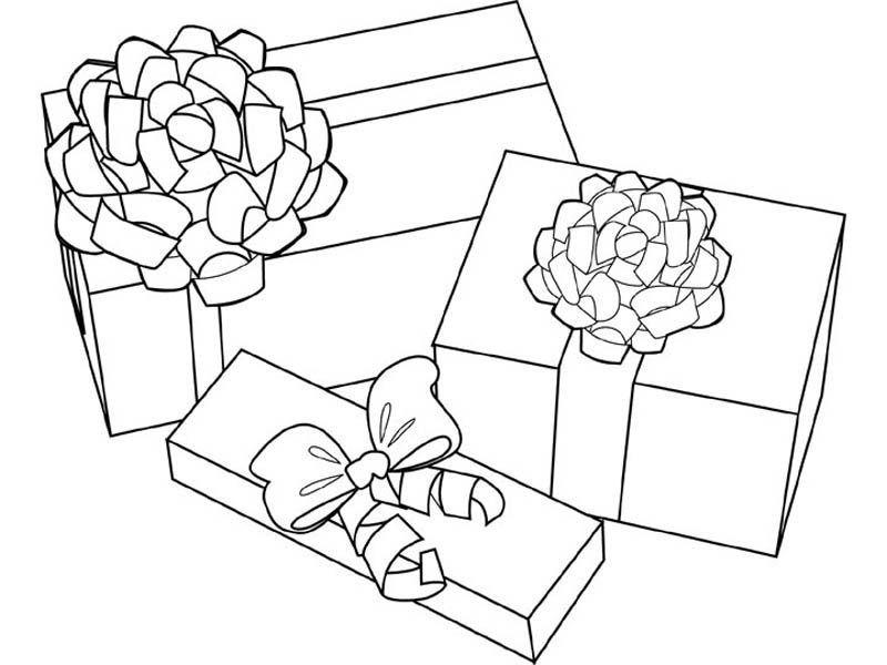 Gift Coloring Pages Christmas Present Coloring Pages Doozink With