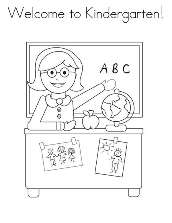 Welcome to Kindergarten Coloring Page | Coloring Sky