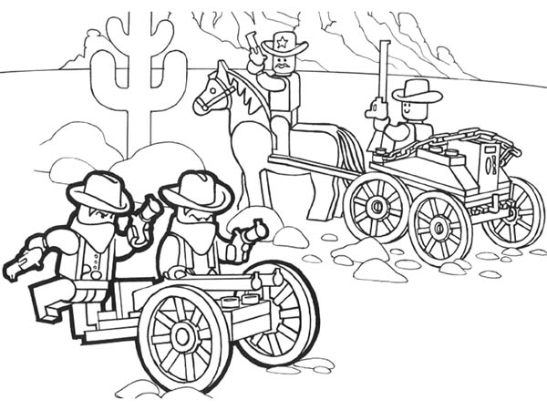 Wild Wild West Lego Coloring Page Coloring Sky