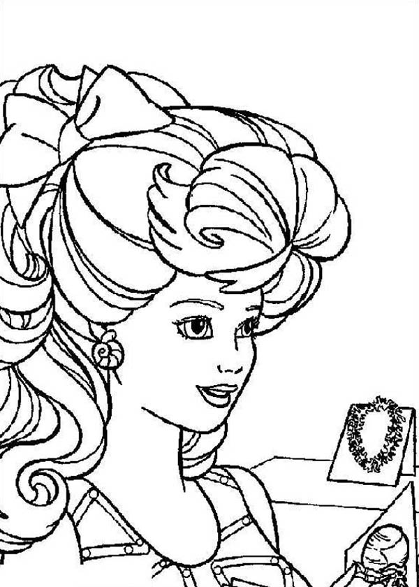 jewelry coloring page - woman love jewelry coloring page coloring sky