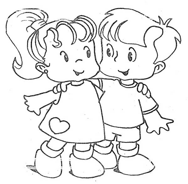 You are My Best Friend on Friendship Day Coloring Page Coloring Sky