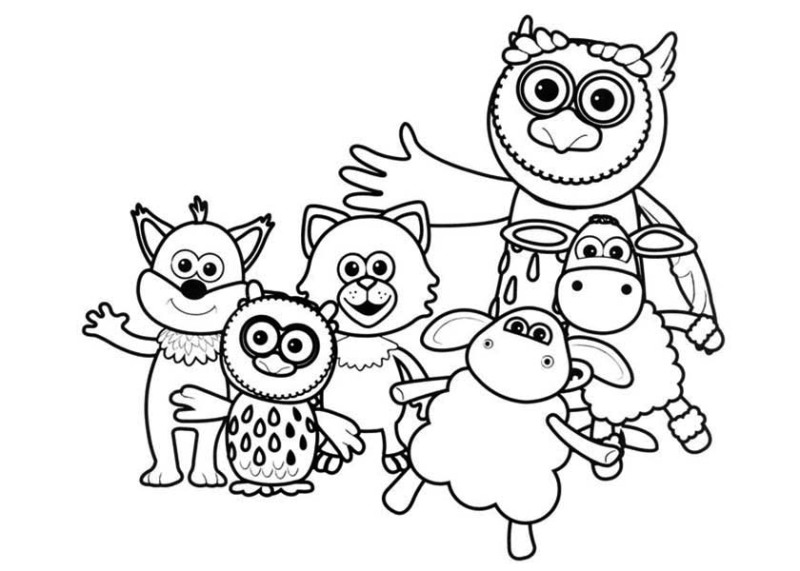 Timmy Time All Characters Of Coloring Page