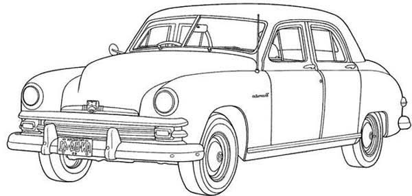 Expensive Car Coloring Pages : An expensive old car coloring page sky