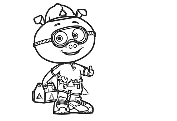 awesome alpha pig in superwhy coloring page with super why coloring page