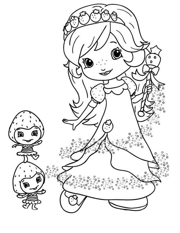 berryfest princess strawberry shortcake coloring page